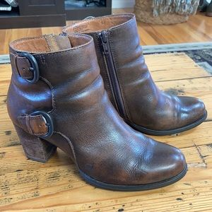 Born Brown Leather Ankle Boots
